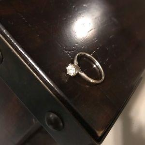 Half carat (0.5)Diamond Solitaire engagement ring